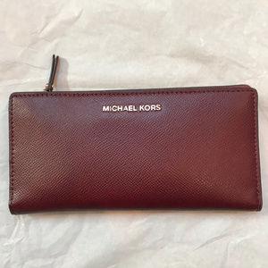 Michael Kors Red ZIp Wallet